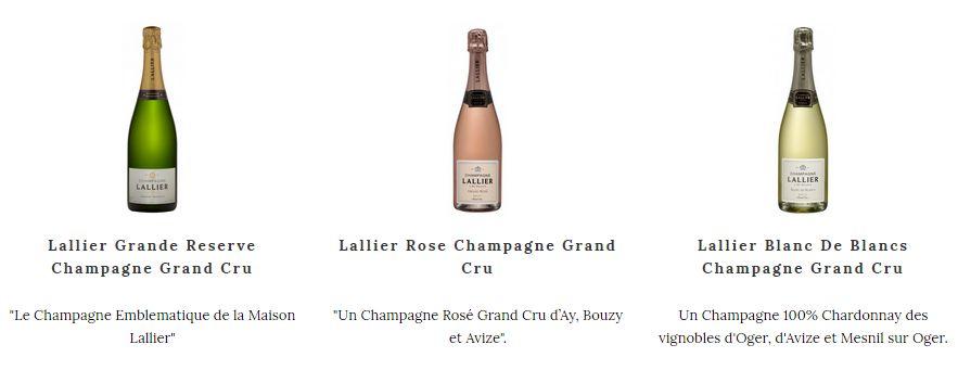 Dégustez le Champagne Lallier pour vos grandes occasions